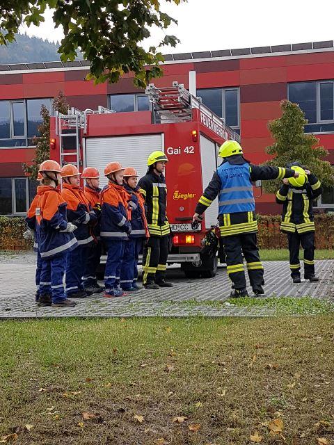 Jugendfeuerwehr Bereichs-Uebung 22.10.2016